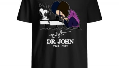 Dr John and Snoopy mashup Schroeder Style Peanuts playing piano signature shirt