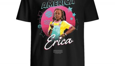 Happy Independence Day Stranger Things Erica You can't spell America without Shirt