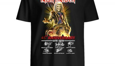 Iron Maiden 45th annivrsary 1975 2020 signature shirt
