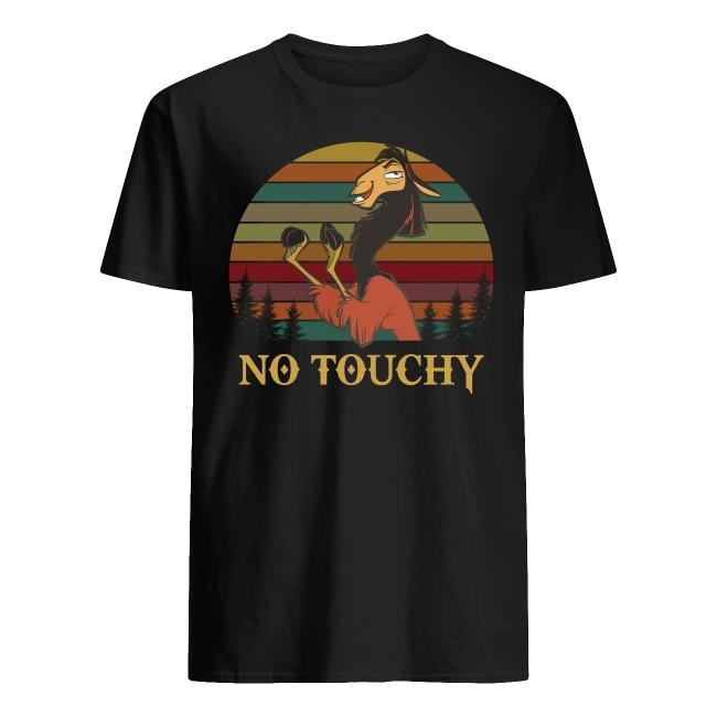 Kuzco llama not touchy retro sunset shirts