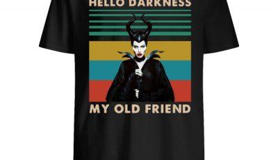 Maleficent Hello Darkness My Old Friend Vintage Shirt