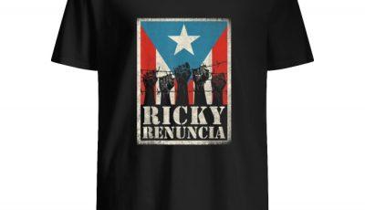 Puerto Rico Ricky Renuncia Bandera Negra Boricua Flag shirt