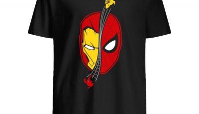 Spidey Ironman Face Homecoming Shirt