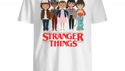 Stranger Things angry cartoon face shirt