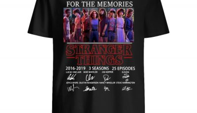Thank You for the Memories Stranger Things 3 signatures shirt