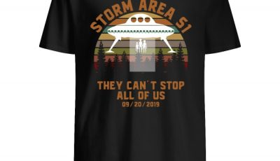 UFO Storm Area 51 They Can't Stop All Of Us 09 20 2019 Sunset Vintage Shirt