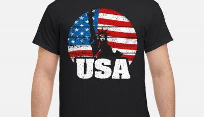 USA 4th of July Statue of Liberty American Flag shirt
