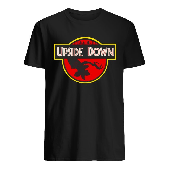 Upside Down Jurassic Park Badge Stranger Things shirt