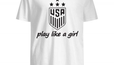 Usa Champions Play Like A Girl Shirt