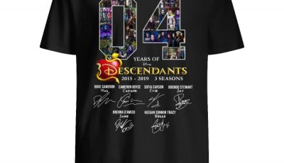04 years of Descendants 2015-2019 3 seasons signature shirt