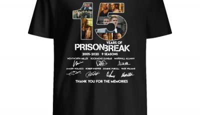 15 years of Prison Break 2005-2020 signatures thank you shirt