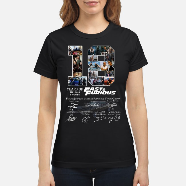 18 Years Of Fast-Furious 2001-2019 9 Movies Signature ladies