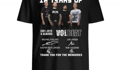 18 years of volbeat 2001 2019 6 albums signature shirt