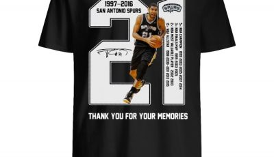 21 Years Of 1997-2016 San Antonio Spurs thank you for the memories shirt