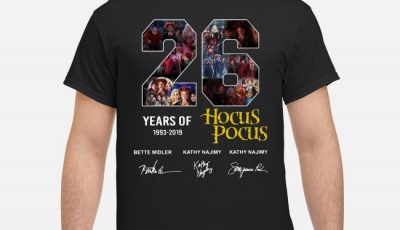 26 Years Of Hocus Pocus 1993-2019 Signatures Shirt