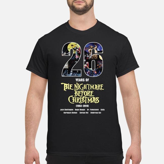 26 years of The Nightmare Before Christmas 1993-2019 shirt