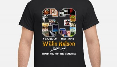 63 Years Of Willie Nelson 1956-2019 Signatures Thank You For The Memories Shirt