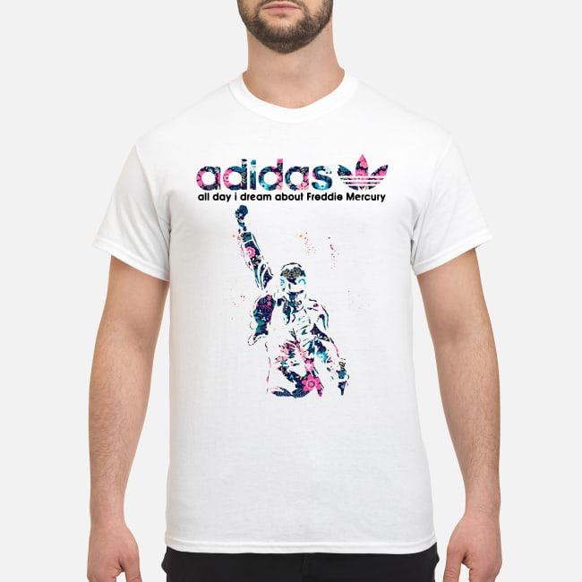 Adidas all day I dream about Freddie Mercury Shirt, ladies ...