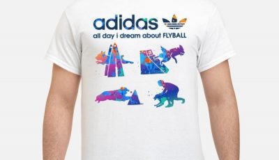 Adidas all day I dream about Flyball shirt