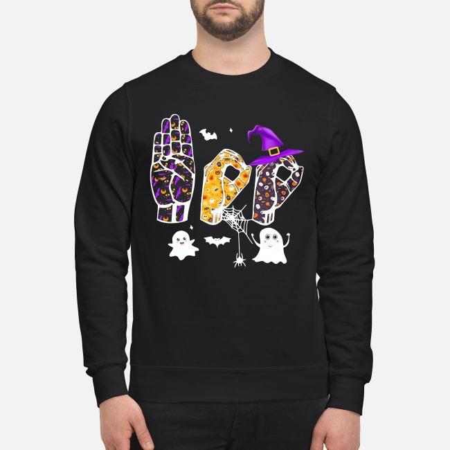 Asl Boo Halloween Sweater