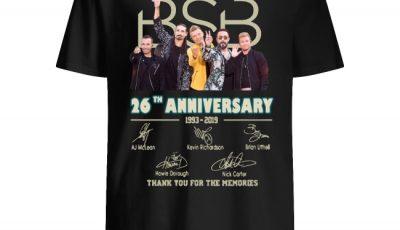 Backstreet Boys 26th Anniversary Signature Shirt
