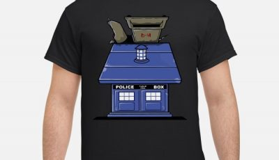 Doctor who Tardis cardboard Police Box Snoopy shirt