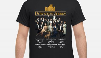 Downton Abbey all characters signatures shirt