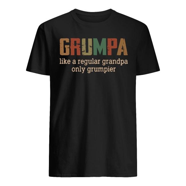 Grumpa like a regular grandpa only grumpier vintage shirt