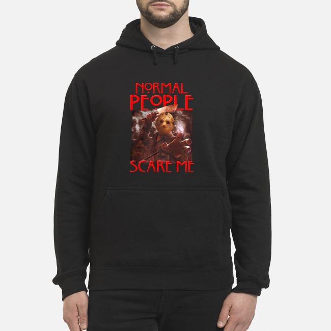 Jason Voorhees Normal People Scare Me Horror Hoodie