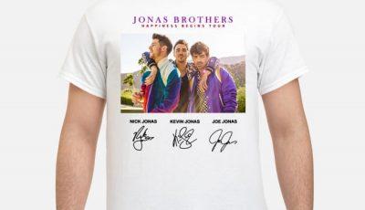 Jonas Brothers Happiness begins tour signatures shirt