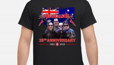 Metallica 38th Anniversary 1981-2019 Signature Australian Flag Shirt