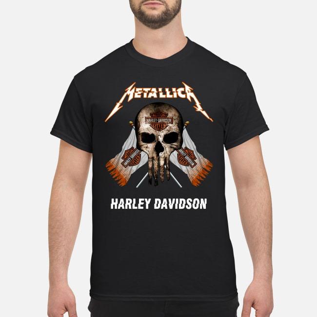 Metallica Punisher Motor Cycles Harley Davidson Shirt