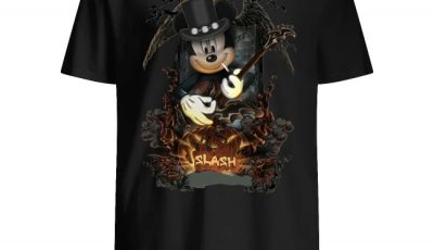 Mickey Mouse Smoking Slash Pumpkin Halloween Shirt