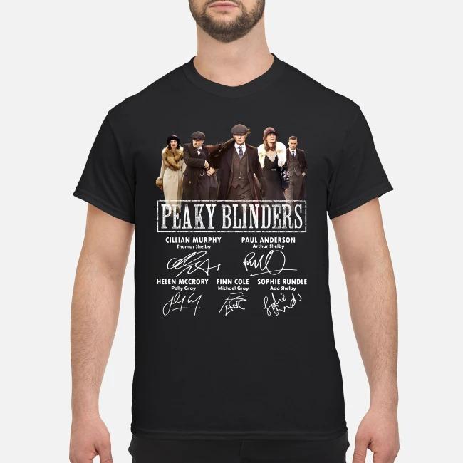 Peaky Blinders Characters signatures shirt
