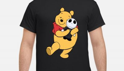 Pooh Hugging Jack Skellington Shirt
