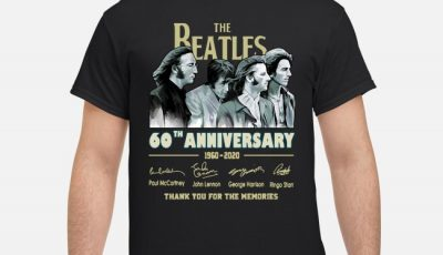 The Beatles 60th Anniversary 1960-2020 Thank You Signatures Shirt