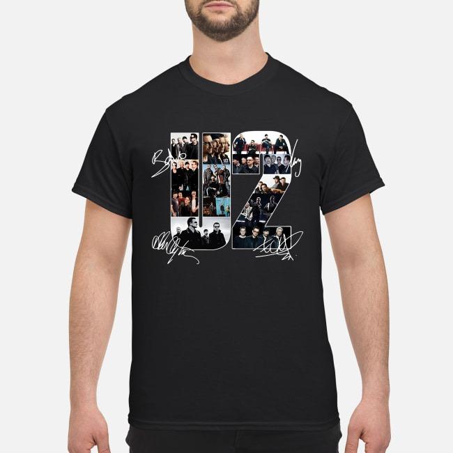 U2 Member Signatures Shirt
