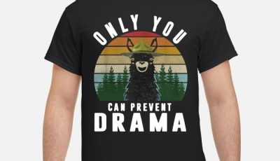 llama Only you can prevent drama sunset shirt