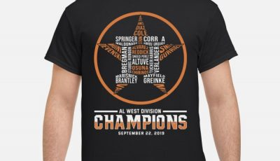 Al West Division Champions September 22 2019 Shirt