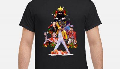 Awesome Freddie Mercury Christmas Tree Shirt