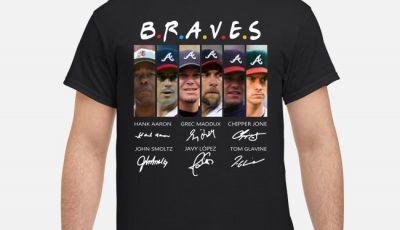 Braves Hank Aaron Greg Maddux Chipper Jones John Smoltz Javy Lopez Tom Glavine Friends Signatures Shirt