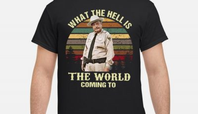 Buford T Justice what the hell is the world coming to sunset shirt