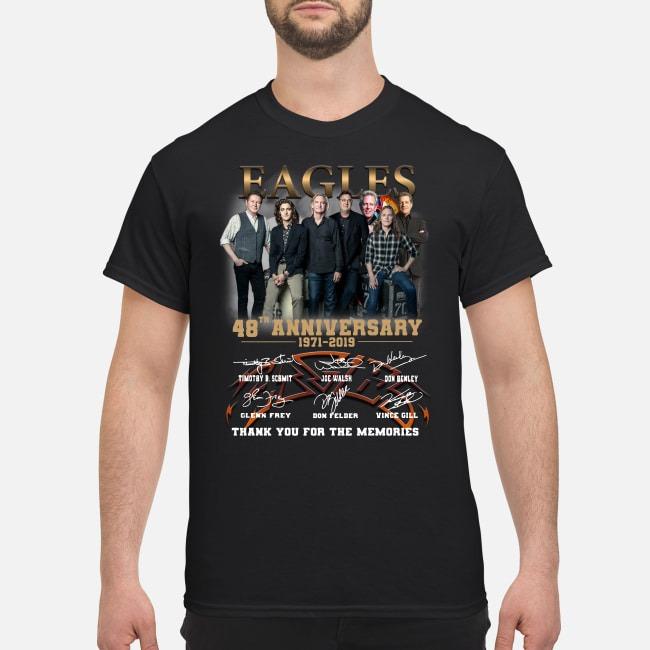 Eagles 48th Anniversary 1971-2019 signature thank you shirt