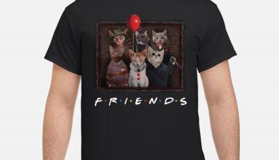 Halloween Friends TV Show Cat In Horror Movie Character shirt