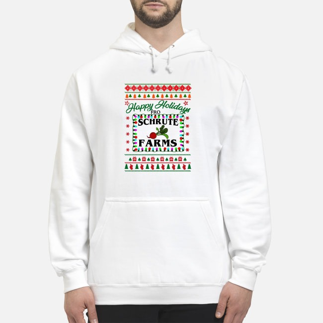 Happy holidays from Schrute farms Christmas Hoodie