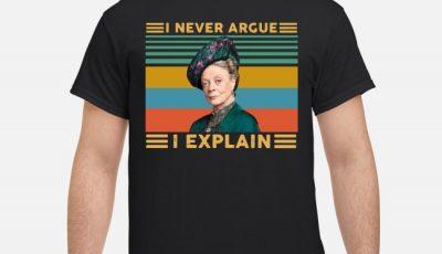 Harry Potter Professor Minerva McGonagall I never argue I explain shirt