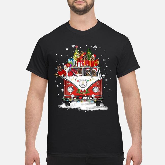 German Shepherd Christmas Sweater.Hippie Car German Shepherd Christmas Shirt Ladies And Sweater