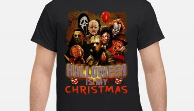 Horror Characters Halloween is my christmas shirt