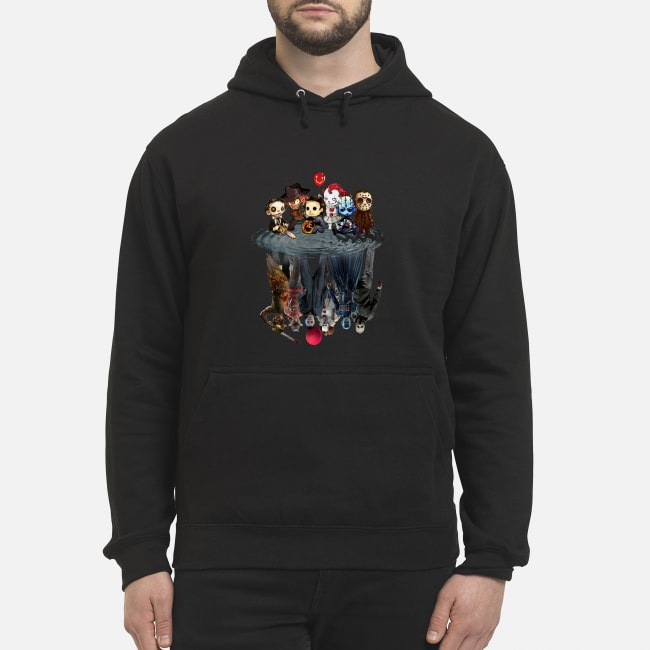 Horror Characters Reflect Hoodie