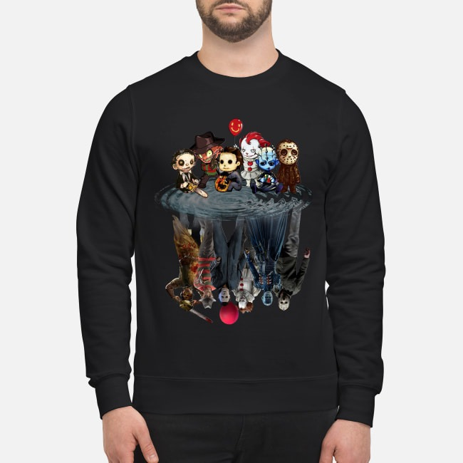 Horror Characters Reflect Sweater
